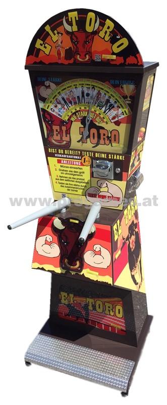 EL TORO ''Evolution'' - Verkaufsautomat/Kraftmesser mit Einwurf  1€ - Deutsch