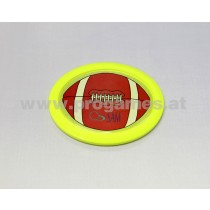 Air Hockey Puck oval / Rugby gelb
