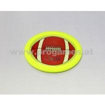 Air Hockey Puck oval / Rugby gelb