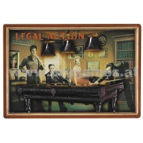 Holzbild '' Legal Action ''