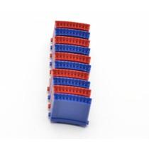 Segment 10er Set dreifach Löwen Dart 5 rot & 5 blau