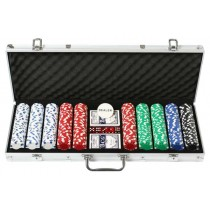 Pokerkoffer-Set mit 500 Chips