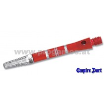 22L763 - Schaft-Set Empire Alu mittel Rot mit festem Top-Spin