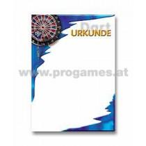 22L808 - Urkunde Dart Scheibe (10 Stück)