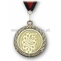 22L885 - Medaille Dartscheibe gold mit Band