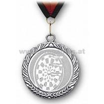 22L886 - Medaille Dartscheibe silber mit Band