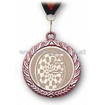 22L887 - Medaille Dartscheibe bronze mit Band