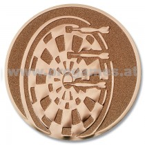 22L859 - Pokal-Emblem Dartscheibe Bronze