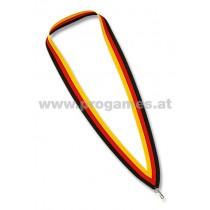 11L705 - Halsband schwarz/rot/gelb