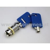 Schlüsselschalter Cam Lock mit Feder 30mm