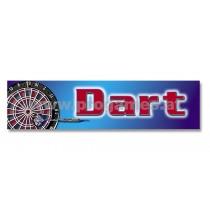 20L668 Gastro Werbeschild  ''Dart '' innenklebend