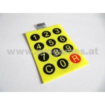 Folientastatur für Wurlitzer Zigarettenautomat - INTERNATIONAL